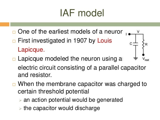 integrate and fire neuron model pdf
