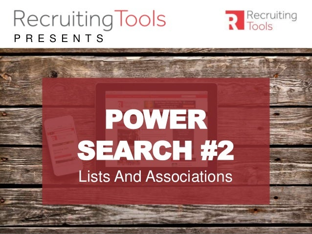 #RDaily P R E S E N T S POWER SEARCH #2 Lists And Associations