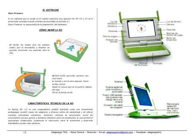 Manual de uso de la Laptop Xo primaria Slide 2