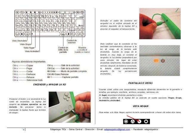 Manual de uso de la Laptop Xo primaria Slide 3