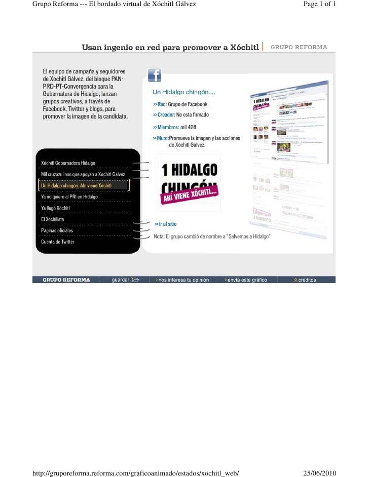 Grupo Reforma --- El bordado virtual de Xóchitl Gálvez                Page 1 of 1     http://gruporeforma.reforma.com/graf...