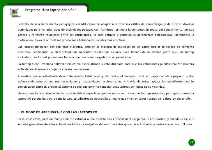 Laptop XO - Perú