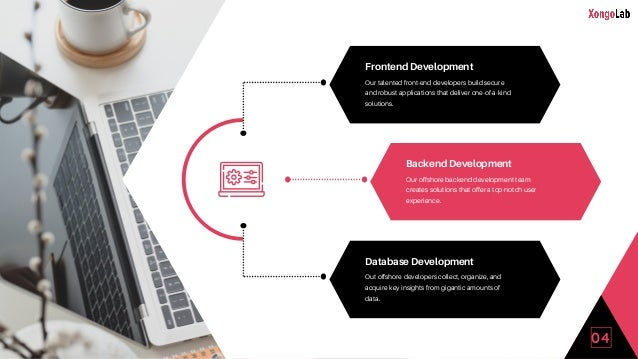 Backend Development Our offshore backend development team creates solutions that offer a top-notch user experience. Fronte...