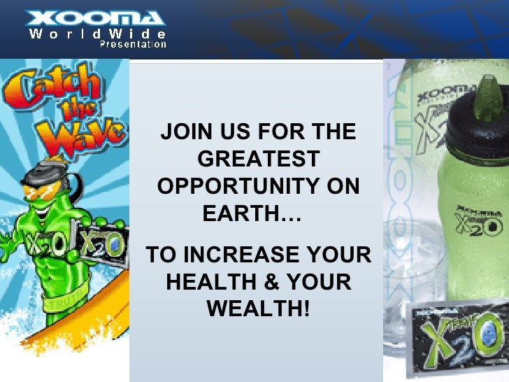 JOIN US FOR THE GREATEST OPPORTUNITY ON EARTH…  TO INCREASE YOUR HEALTH & YOUR WEALTH!