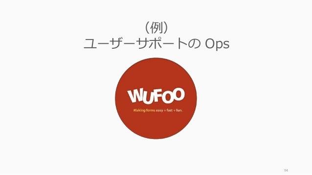 94 (例) ユーザーサポートの Ops