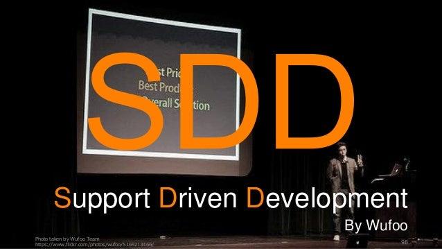 Photo taken by Wufoo Team https://www.flickr.com/photos/wufoo/5169213466/ 98 Support Driven Development By Wufoo