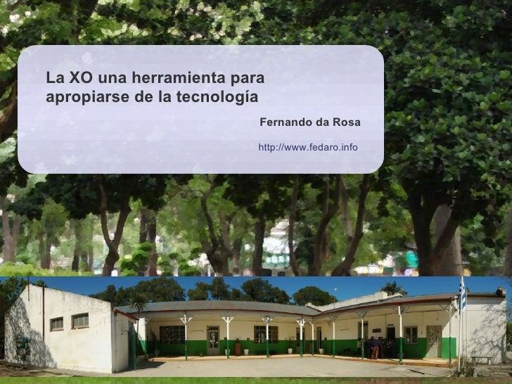 La XO una herramienta para apropiarse de la tecnología