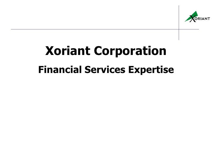 Xoriant CorporationFinancial Services Expertise