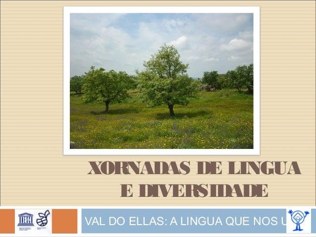 XORNADAS DE LINGUA E DIVERSIDADE VAL DO ELLAS: A LINGUA QUE NOS UNE