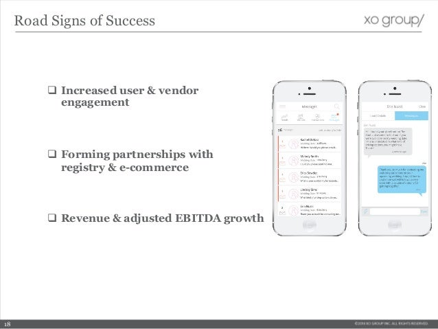  Increased user & vendor engagement  Forming partnerships with registry & e-commerce  Revenue & adjusted EBITDA growth ...