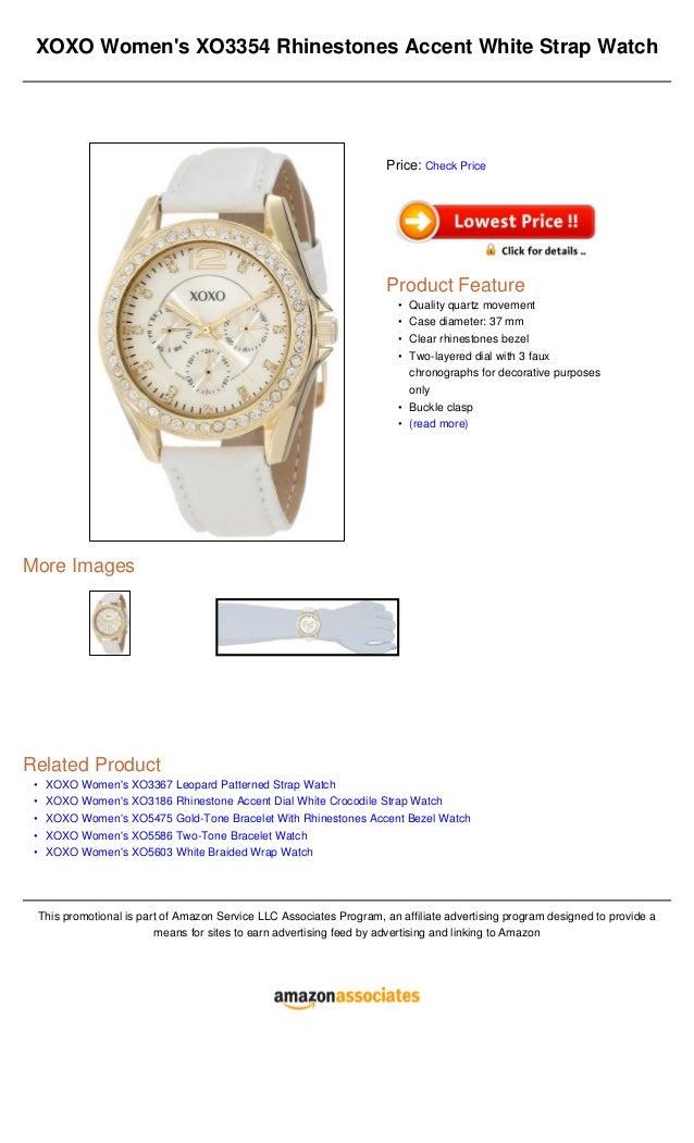 XOXO Women's XO5642 Gold and White Bracelet Watch ...