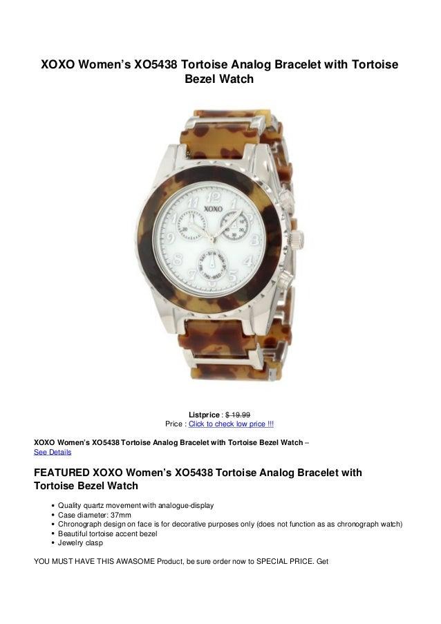 0703ddfc0993 XOXO Women s XO5438 Tortoise Analog Bracelet with TortoiseBezel  WatchListprice     19.99Price   Click to The best ...