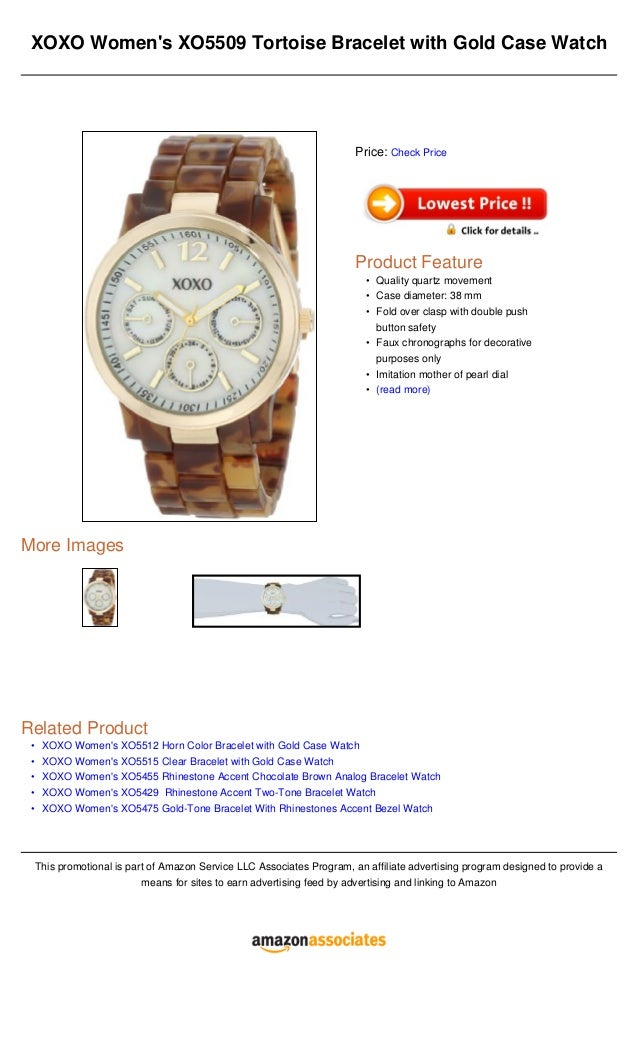 •••••XOXO Womens XO5509 Tortoise Bracelet with Gold Case WatchMore ImagesRelated ProductXOXO Womens XO5512 Horn Color Brac...