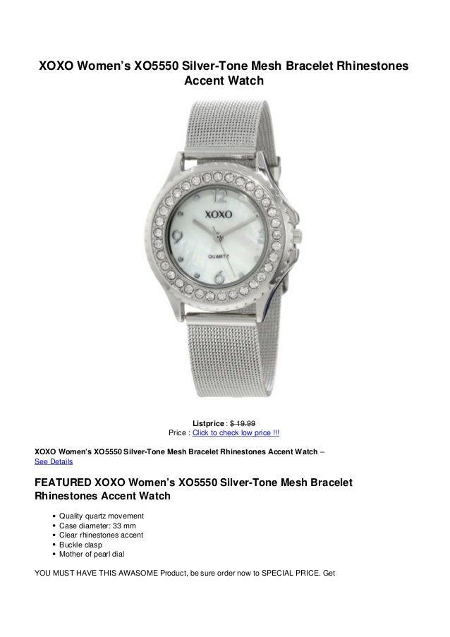 XOXO Women's XO5550 Silver-Tone Mesh Bracelet RhinestonesAccent WatchListprice : $ 19.99Price : Click to check low price !...