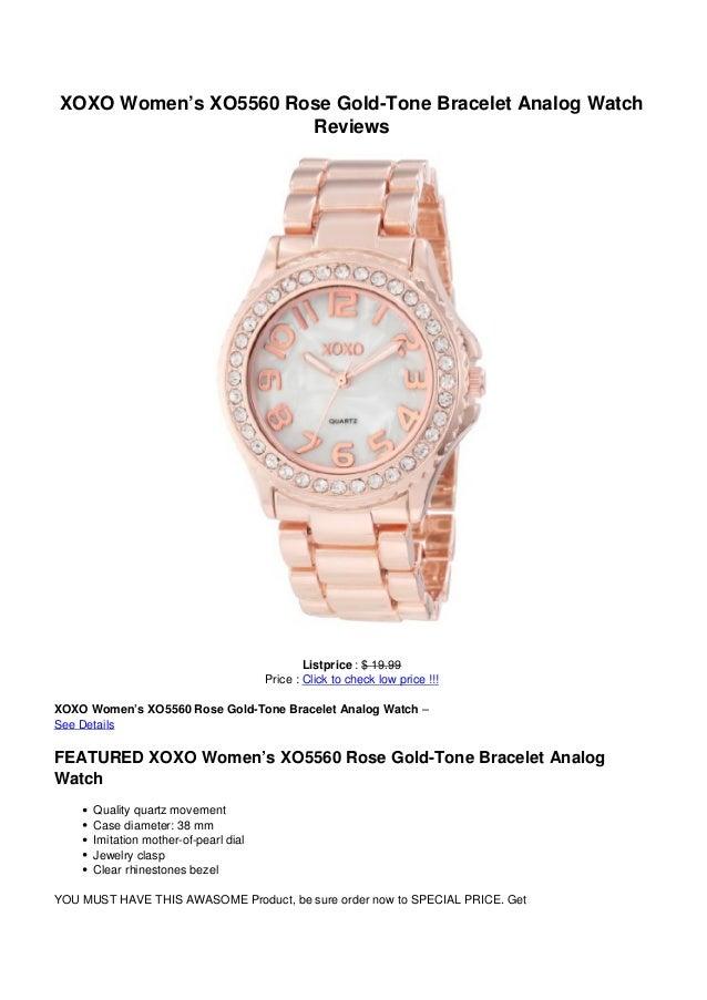 XOXO Women's XO5560 Rose Gold-Tone Bracelet Analog WatchReviewsListprice : $ 19.99Price : Click to check low price !!!XOXO...