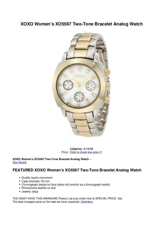 XOXO Women's XO5567 Two-Tone Bracelet Analog WatchListprice : $ 19.99Price : Click to check low price !!!XOXO Women's XO55...