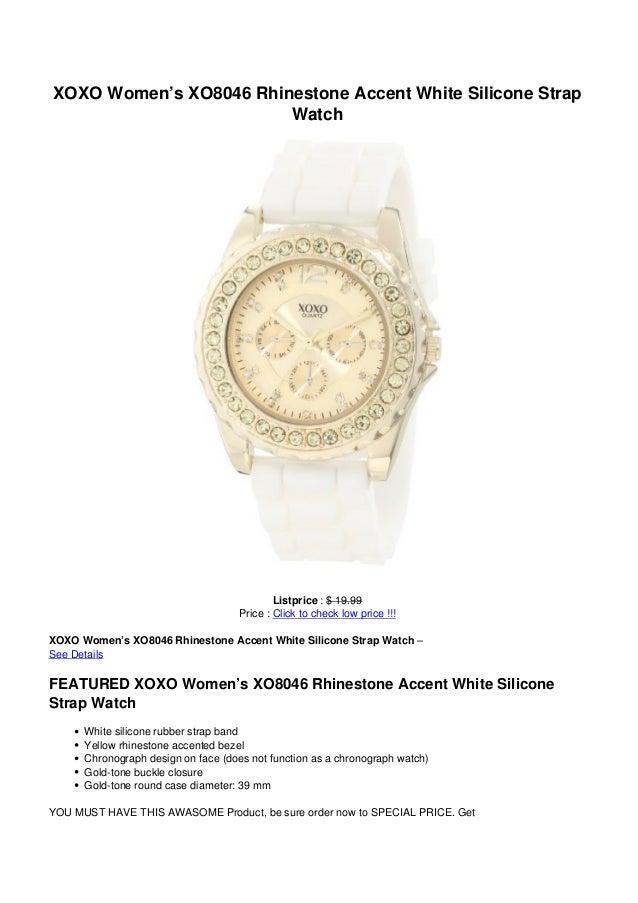 XOXO Women's XO8046 Rhinestone Accent White Silicone StrapWatchListprice : $ 19.99Price : Click to check low price !!!XOXO...