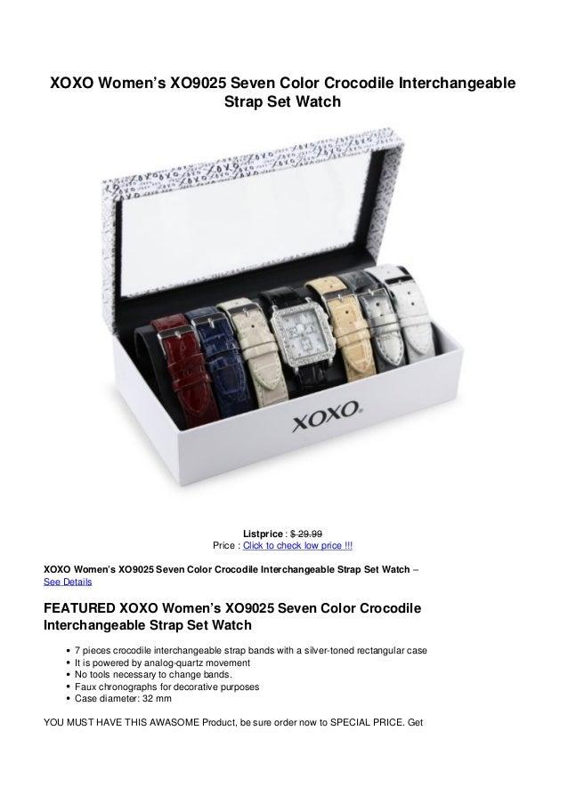 XOXO Women's XO9025 Seven Color Crocodile InterchangeableStrap Set WatchListprice : $ 29.99Price : Click to check low pric...