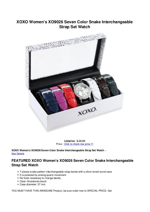 XOXO Women's XO9026 Seven Color Snake InterchangeableStrap Set WatchListprice : $ 29.99Price : Click to check low price !!...