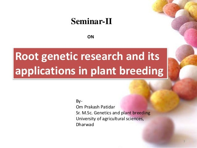 application of molecular genetics to crops Advance of molecular marker application in the tobacco  is one of the most important commercial crops in the world during the last two  population genetics.
