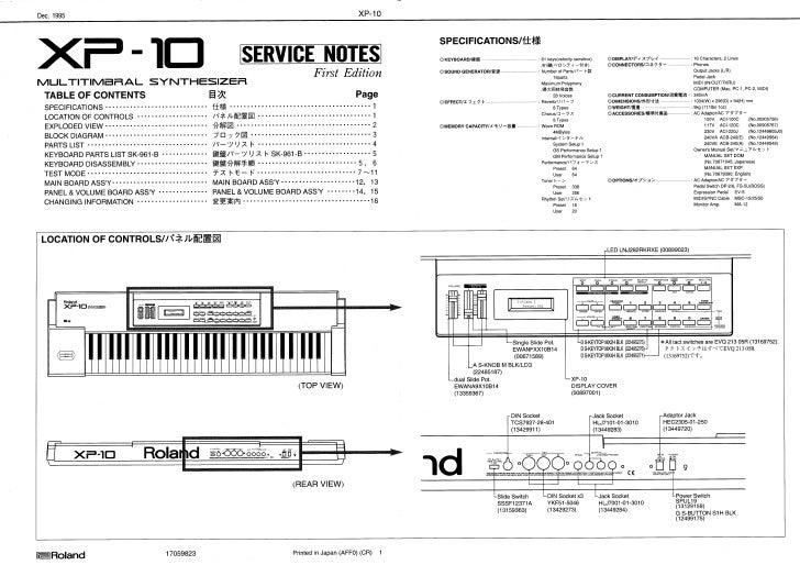 Roland gw 7 Service Manual