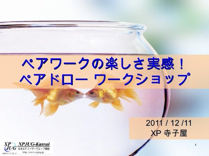 ペアワークの楽しさ実感! ペアドロー ワークショップ 2011 / 12 /11 XP寺子屋