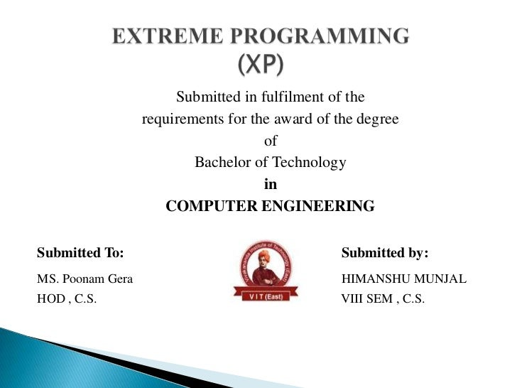Submitted in fulfilment of the                  requirements for the award of the degree                                  ...