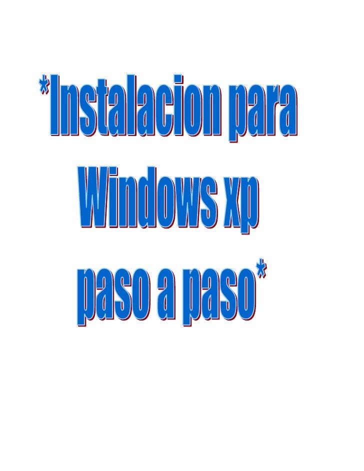 Enciende el ordenador y mete el cd de instalación de Windowsxp. Si la configuraciónde la BIOS es correcta, se iniciará el ...