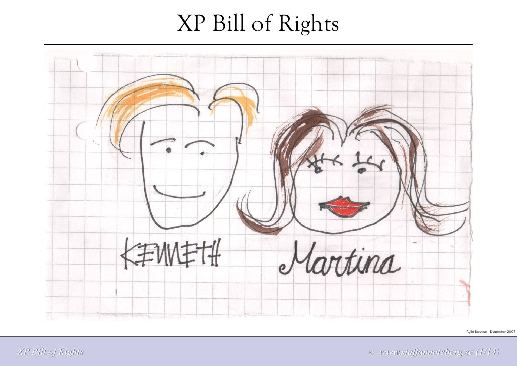 XP Bill of Rights                                                                     Agile Sweden - December 2007     XP ...