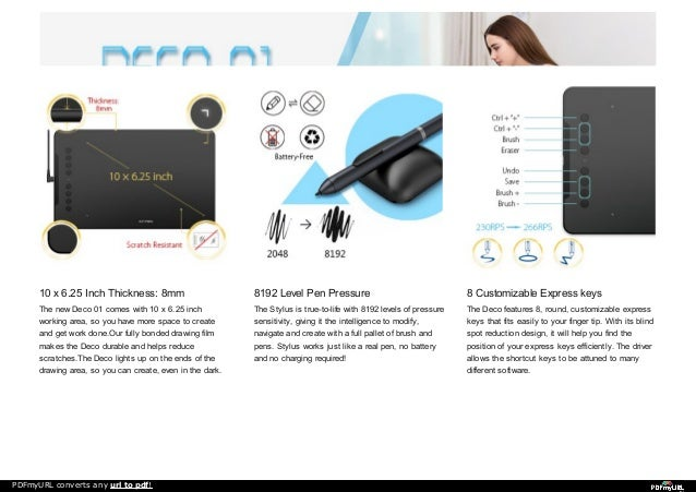 Digital Graphics Drawing Tablet XP-Pen Deco 01 for beginners