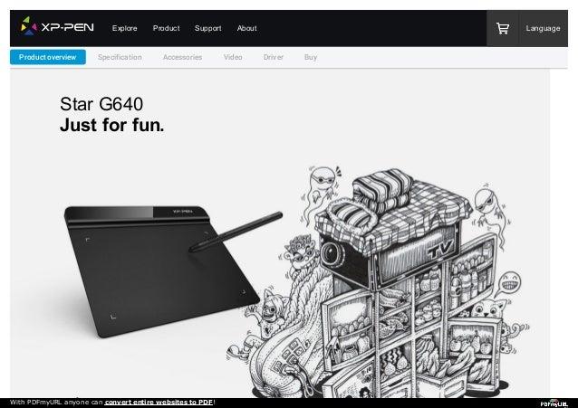 Ultrathin XP-Pen StarG640 6x4 Inch osu Tablet Drawing Tablet