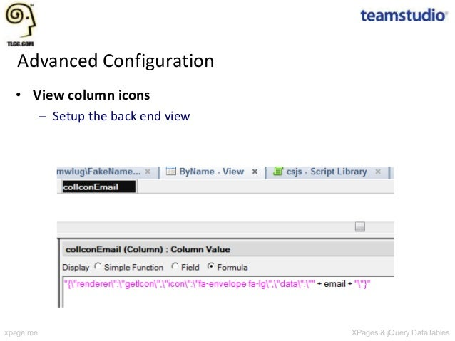 XPages and jQuery DataTables: Simplifying View Creation