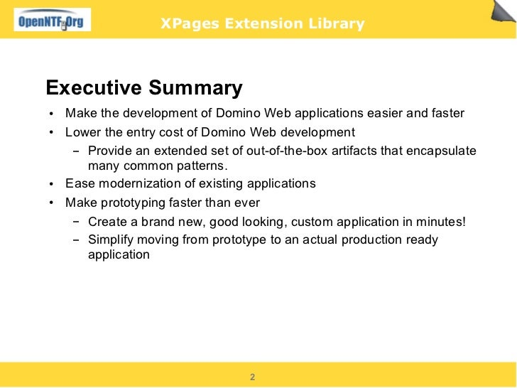 XPages Extension Library   slides Slide 2