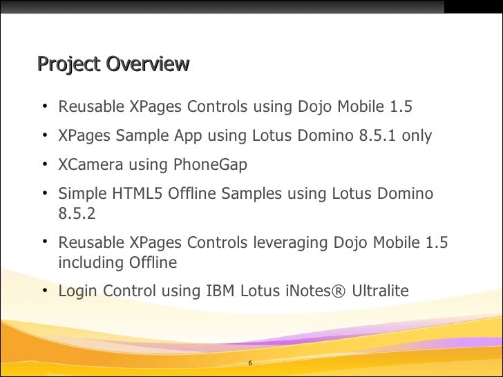 Mobile Controls For Ibm Lotus Domino Xpages On Openntf