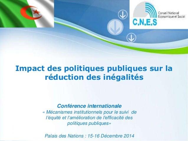 Pour plus de modèles : Modèles Powerpoint PPT gratuits Page 1 Powerpoint Templates Impact des politiques publiques sur la ...