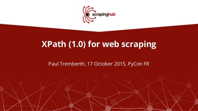 XPath for web scraping
