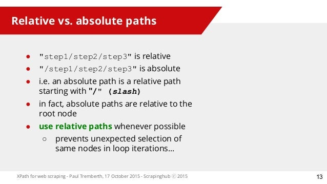 absolute and relative xpath