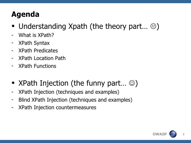 XPath Injection Slide 3
