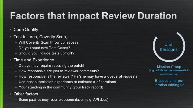 Later it becomes clear that  there is an issue with the use-case,  design, architecture or assumptions  Reviewer takes pit...
