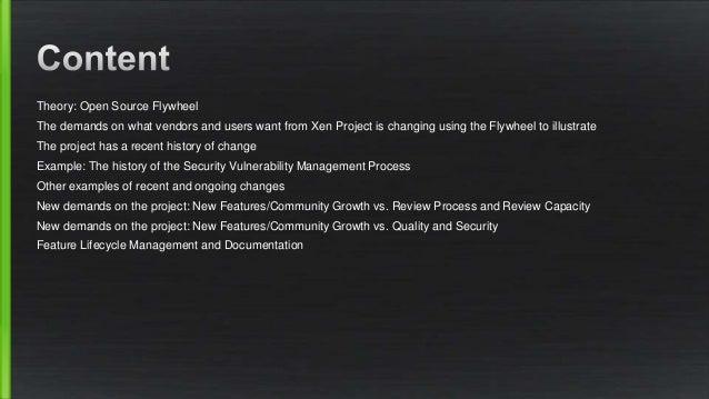 Xen Project Contributor Training : Part 4 Culture Slide 2