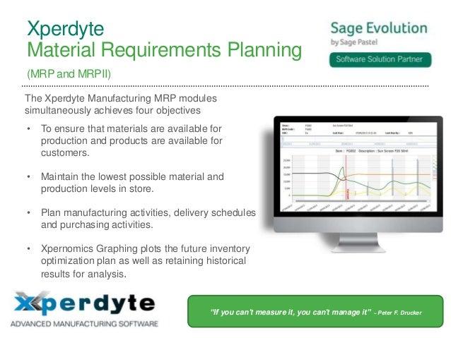 Xperdyte Manufacturing at Sage Evolution Event - 2 July 2013