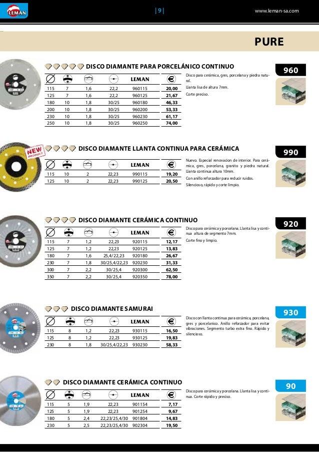 230 x 22,23 mm Leman 55230 Disco Diamante Hormig/ón azul