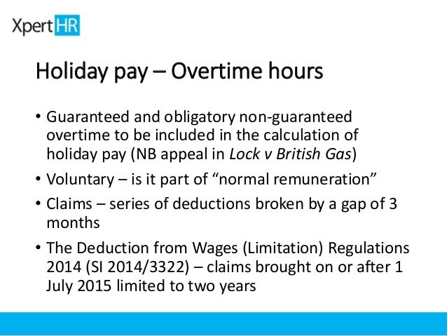 Holiday pay and overtime | The Employment law blog