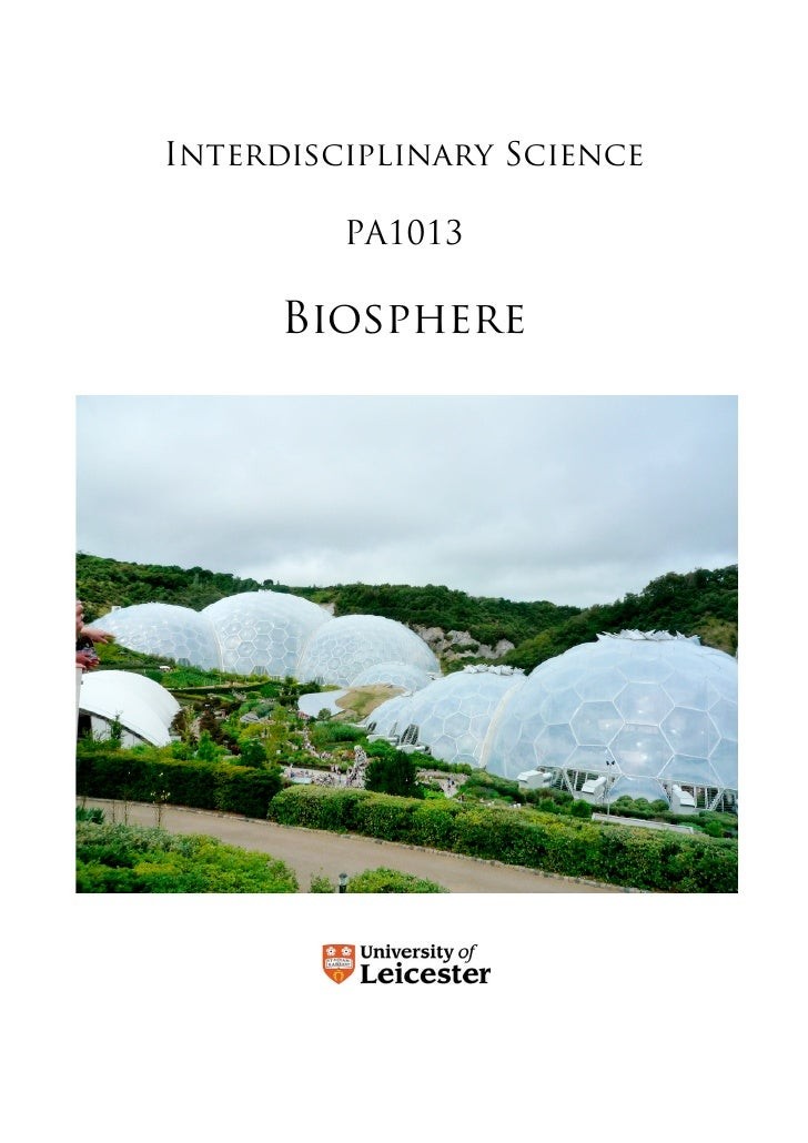Interdisciplinary Science           PA1013        Biosphere