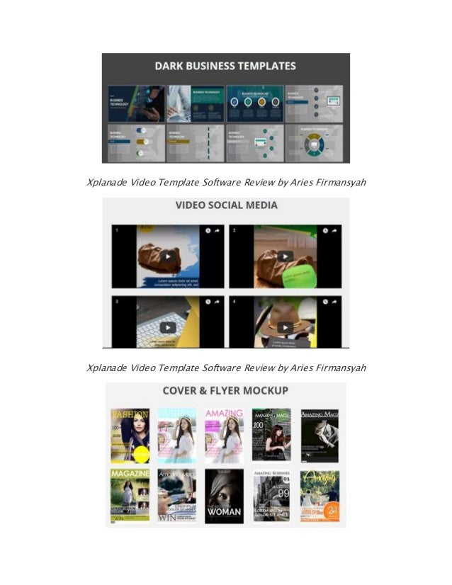 9 xplanade video template software review by aries firmansyah xplanade video template software review