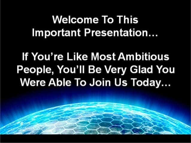 Welcome…  Here's Our Simple Agenda For Today… I'm going to show you how you can earn $300.00 - $1,000.00 a day part-time, ...