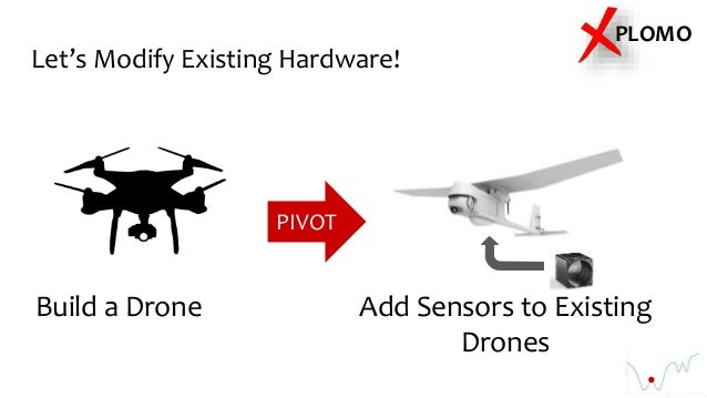 Let's Modify Existing Hardware! Build a Drone Add Sensors to Existing Drones PIVOT PLOMO