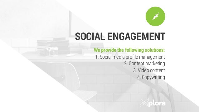 CONTENT DEVELOPMENT We provide the following solutions: 1. Copywriting 2. Photography 3. Viral videos 4. Infographics