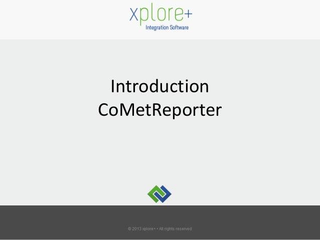 Introduction CoMetReporter
