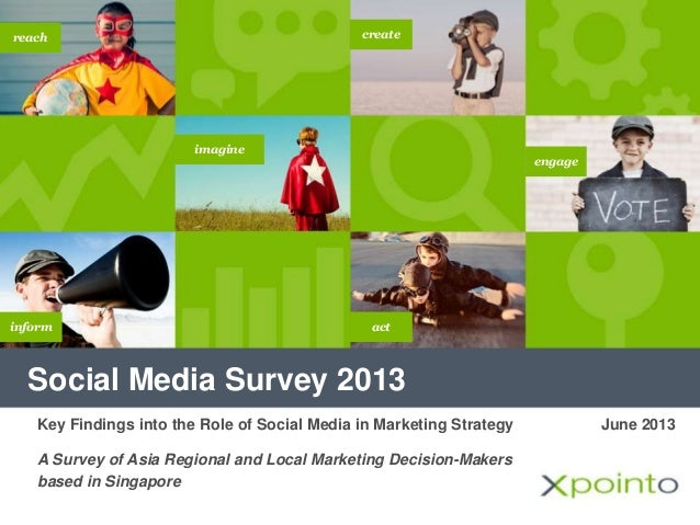 Social Media Survey 2013 imagine inform create engage reach act June 2013Key Findings into the Role of Social Media in Mar...